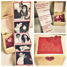 DIY Valentine's Day timeline in a box for him. #valentinesday #gift #diy #boyfriend