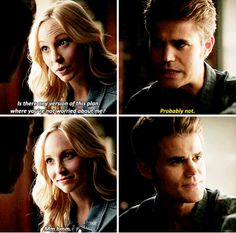 """#TVD 7x01 """"Day One of Twenty-Two Thousand, Give or Take"""" - Caroline and Stefan"""
