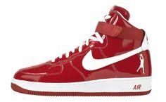 """Bring 'em Back: Nike Air Force 1 High """"Sheed"""" Red/White"""