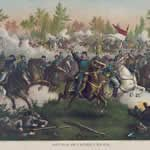Historic Painting The Battle of Cedar Creek by Kurz and Allison