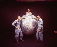 Apollo 11 Lunar module pilot Buzz Aldrin, Command pilot Michael Collins and Mission commander Neil Armstrong