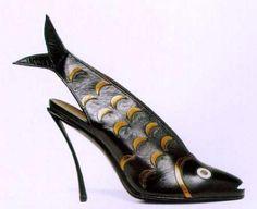 """Slingback fish"" Andrea Pfister  Gone Fishing @ SSO  http://styleshoutout.com/?p=3597"