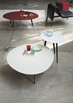 Tavolo basso / moderno / in metallo / in legno laccato FLOWERS  LEMA Home