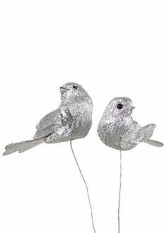 Set of 2 Silver Birds
