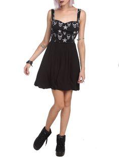 Teenage Runaway Stars & Skulls Dress   Hot Topic