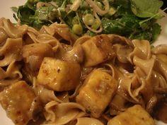 Presque végé: Ragoût de tofu aux champignons et à l'oignon