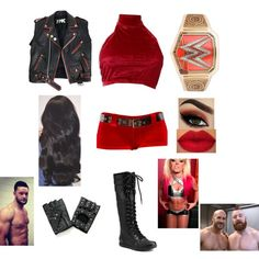 What I (Sage) when Dean faced Apollo for his title Get rid of the women's title because I can't fight and also the jacket And my hair is also red at this time Wrestling Outfits, Wwe Outfits, Women's Wrestling, Tomboy Outfits, Tomboy Clothes, Red Rings, Wwe Womens, Total Divas, Dean Ambrose