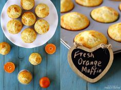 Oranges, they are such a joy to behold. It's like sunshine packaged in a fruit. I love oranges in any form, though I am a bit partial to the easy-peel, sweet varieties. Citrus Recipes, Orange Recipes, Healthy Recipes, Muffin Recipes, Baking Recipes, Bread Recipes, Baking Ideas, Orange Muffins, Breakfast Dishes