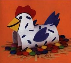 Paper Roll Easter Chicken Craft