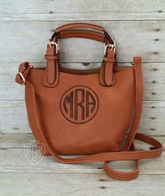 e767c5db0de6 Monogram Small Brown Crossbody - Monogram Purse -Personalized Purse-  Monogram Handbag - Monogram Crossbody-2 bags in 1- FINAL INVENTORY