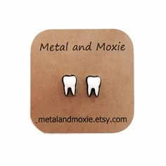 Tooth Stud Earrings, Molars, Dentist Gift, Dental Office Staff, Dental Hygienist, Orthodontist, Under 10 Dollar Jewelry
