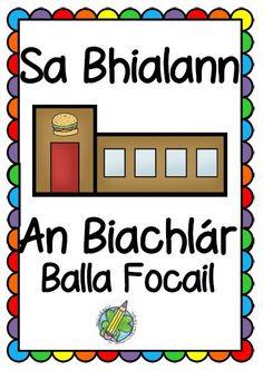 Sa Bhialann: An Biachlár – Mash. Pack List, Irish Language, Grammar, Menu, Posters, Writing, Learning, My Love, Words