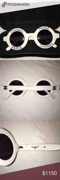 Vintage Round Chanel Sunglasses Vintage Round Chanel Sunglasses CHANEL Accessories Glasses