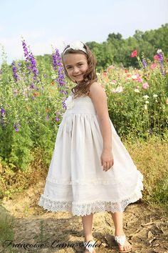 Flower+Girl+Organic+Church+birthday+Easter+by+francoiselamasolet,+$110.00
