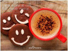 Inspiração bom dia Nine Pockets. #coffe #morning #quotes #phrases
