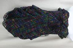 Jill Stuart Multi-Color Block Ruffle Mini Party/Cocktail Dress Size 12