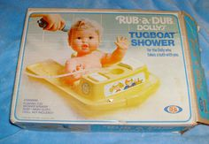 Rub-A-Dub Dolly and her Tugboat Shower..I had this!