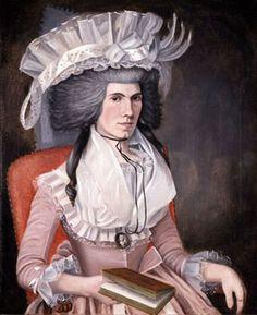 1791 John Mackay or M'Kay (American artist, 1767-1807) Hannah Ackley Bush