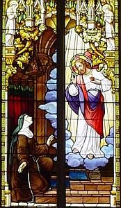 St. Margaret Mary Alacoque's vision of the Sacred Heart
