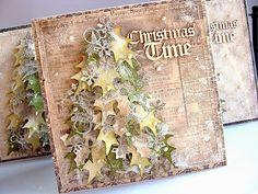 Dorota_mk: Z choinkami. Beautiful Christmas Cards, Christmas Tree Cards, Christmas Paper, Xmas Cards, Handmade Christmas, Holiday Cards, Christmas Crafts, Xmas Tree, Christmas Mix