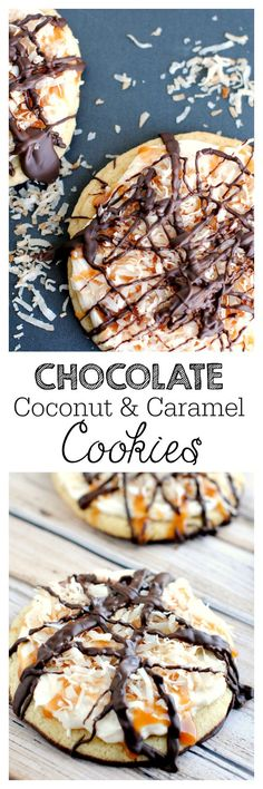 Chocolate Coconut Caramel Delight Cookies! Like a Samoa Girl Scout Cookie-but better!