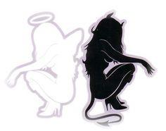 angel/devil - gemini tattoo
