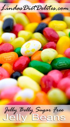 """From Jelly Belly, """"Jelly Belly Sugar-Free jelly beans. Assorted flavors like Buttered Popcorn, Very Cherry and more. Sweetened with Splenda. Have Jelly Belly beans without the sugar."""