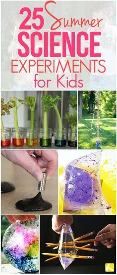 24 Easy Summer Science Experiments for Kids - I showed my kids and they freaked out! These summer science activities are not only fun, but they teach kids about chemistry and biology at the same time! Summer Science, Preschool Science, Summer Activities For Kids, Science Experiments Kids, Science Fair, Science For Kids, Science Activities, Summer Kids, Diy For Kids