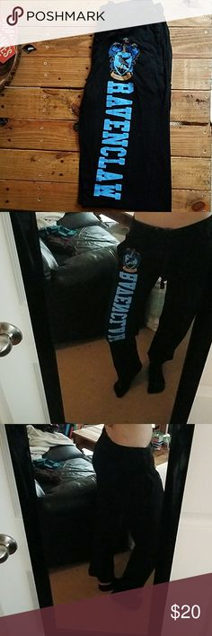 Harry Potter Ravenclaw Sweatpants Hey all my fellow Ravenclaws! These are the perfect pair of sweats to lay around and read your favorite Harry Potter book in. They're 100% cotton and super soft, but are just a little too short for me. Help me give them to a good home! Offers accepted! Hot Topic Other