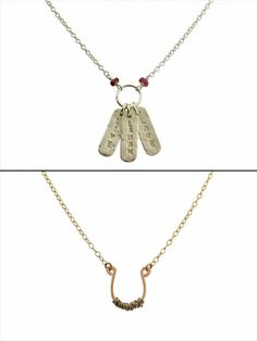 Isabelle Grace Jewelry. These necklaces were designed to honor breast cancer survivors by donating 20% of proceeds to BreastCancer.org.