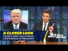 Comics, including Jimmy Fallon and Stephen Colbert, dissect the president's first solo presser, filled with 'bizarre paranoia'