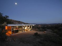 Close to Joshua Tree National Park, the glass-walled cabin has a 360-degree view of the high desert. Bonus: there's no TV or Wi-Fi in the house, so you'll be forced to step away from your iPhone for the weekend (hooray!).