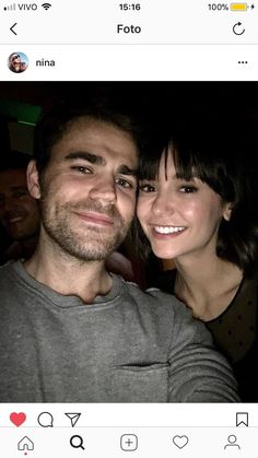 Paul Wesley and Nina Dobrev Dobsley