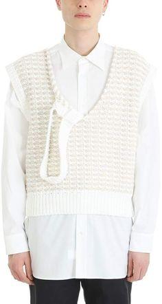 Raf Simons White/beige Wool Knit