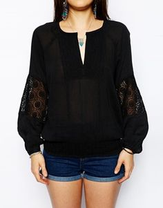Enlarge Denim And Supply By Ralph Lauren Embroidered Bohemiam Top