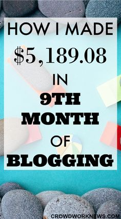 My 9th-month blog and income update is live!! Find out how my traffic numbers went up and how I made over $5000 in a month.
