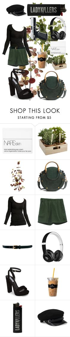 """""""The Assassin"""" by grey-eyed-freak ❤ liked on Polyvore featuring NARS Cosmetics, Pier 1 Imports, Vila Milano, Warehouse, Beats by Dr. Dre, Steve Madden and Keurig"""