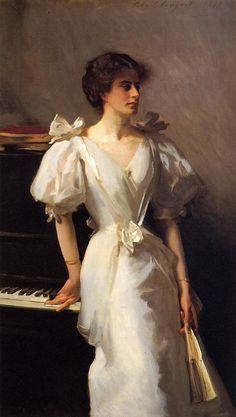 "John Singer Sargent, ""Catrherine Vlasto,"" 1897. Oil on Canvas. (Always been one of my favorite Sargent portraits.)"