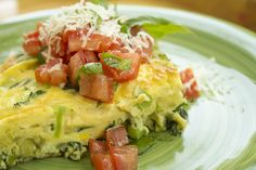 There's nothing easier that whipping up a gigantic monster frittata-- because eggs aren't just for breakfast anymore. Chock full of veggies and topped with the deliciousness of your new favorite Italian bruschetta, this dinner is sure to please either as part of your careful meal planning or in a pinch.  Suggest a Serving Size   Prep Day Time: 10 minutes   Feast Day Time: 35 minutes