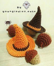 Halloween 2017 Abbreviations: Rnd = Round st = stitch SC = single crochet inc = increase = in the same sti. Crochet Fall Decor, Crochet Christmas Decorations, Holiday Crochet, Crochet Crafts, Yarn Crafts, Crochet Toys, Crochet Projects, Knit Crochet, Halloween Decorations