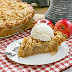 Dutch Apple Pie   Cinnamon spiced apples in a pastry shell with a streusel…