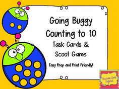 The activities in this packet are designed to help students practice counting to 10.Included are: 1. Twelve Scoot or task cards (Two versions: color or black-and-white)2. Answer sheet for recording the answers to each card3. Answer key Please be sure to ask any and all questions prior to purchasing.