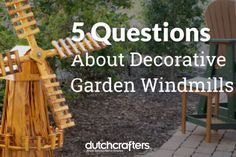 Decorative garden windmills make a lovely addition to home or business. They offer a warm greeting and a unique look. Whether you use them for yard, garden, or landmark, some questions may arise. Here's some helpful info on what to expect with a decorative garden windmill. #garden #decoration #amish #furniture #dutchcrafters #blog