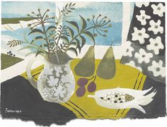 Mary Fedden - Window still life 1994