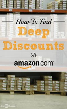 Amazon is a great place to save money, but did you know they have a section specifically for deep discounts? It's called their warehouse deals and this is how you find it. Awesome!!