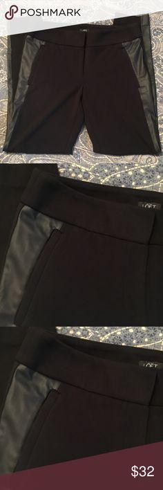 Slim Ponte Knit Ponte Tuxedo Plant Like new. Super sharp and comfy. Nice narrow cut. LOFT Pants Skinny