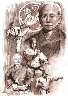 Gichin Funakoshi . Karate Shotokan, illustration