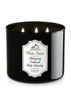 White Barn Mahogany Teakwood High Intensity 3-Wick Candle - Bath And Body Works