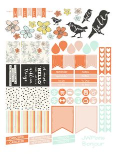 PRINTABLE Erin Condren Planner Bonjour by PricklyPearDesignCo