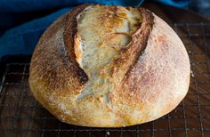 Overnight Sourdough Bread recipe is a great basic recipe to make if you are just getting started baking Sourdough bread or have been at it for years. Overnight Sourdough Bread Recipe, Spelt Sourdough Bread, Wheat Bread Recipe, Sourdough Recipes, Sourdough Rolls, Artisan Bread Recipes, Easy Bread Recipes, Baking Recipes, Rustic Bread